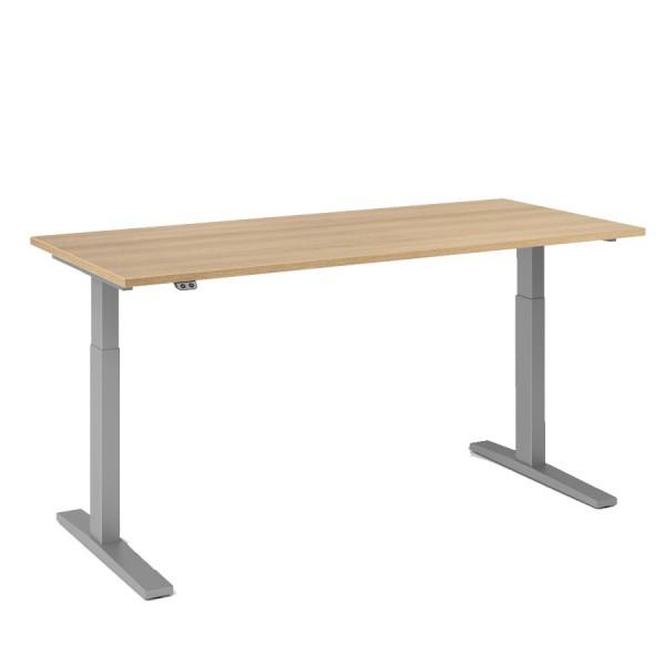 RWH Action Schreibtisch elektrisch verstellbar - Eiche hell-silber - Breite 180 cm