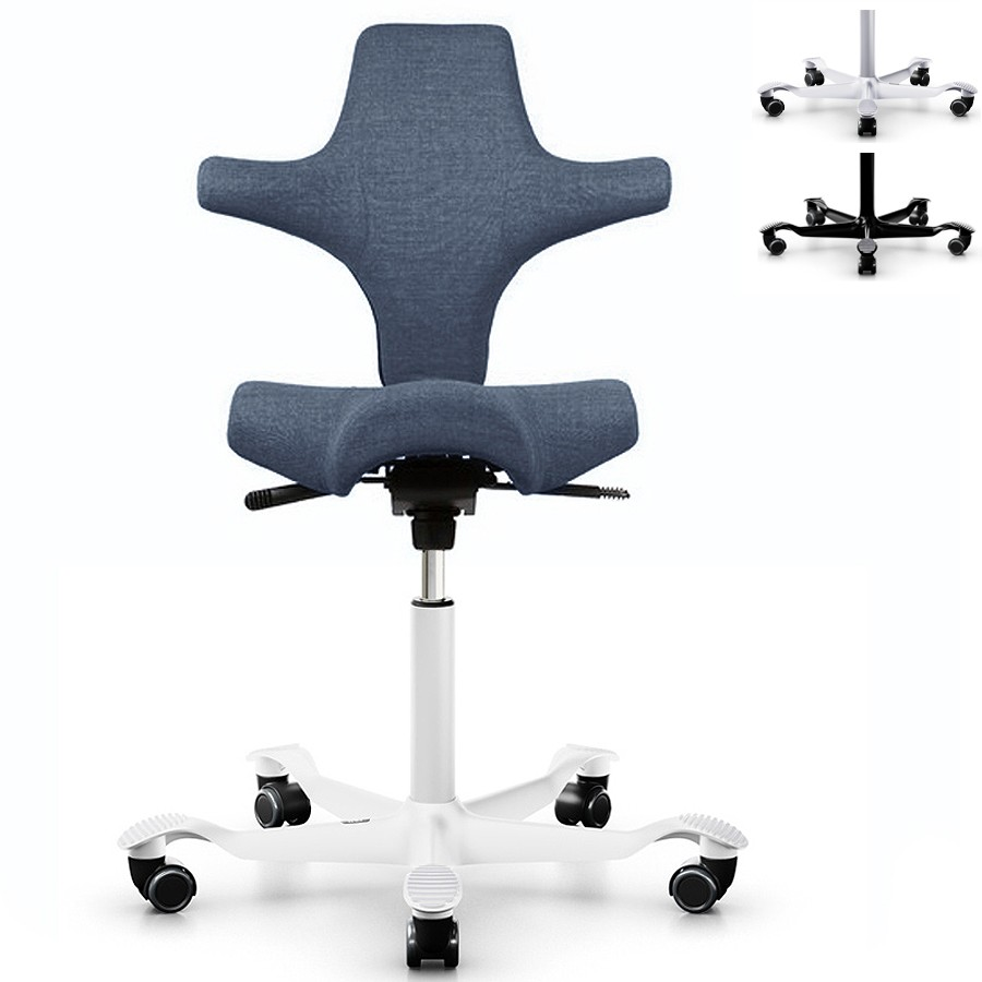 HAG CAPISCO 8106 Bürostuhl mit Sattelsitz Stoff Remix blau HAG10238