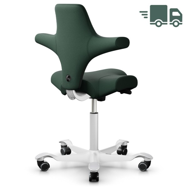 HAG Capisco 8106 Sattelstuhl Bürostuhl in Stoff Select grün - Rückansicht