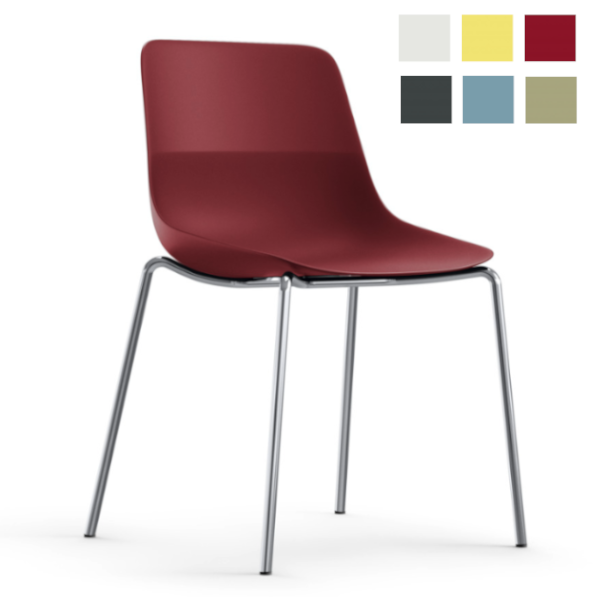 Brunner Crona light Stuhl 6314 cherry chrom