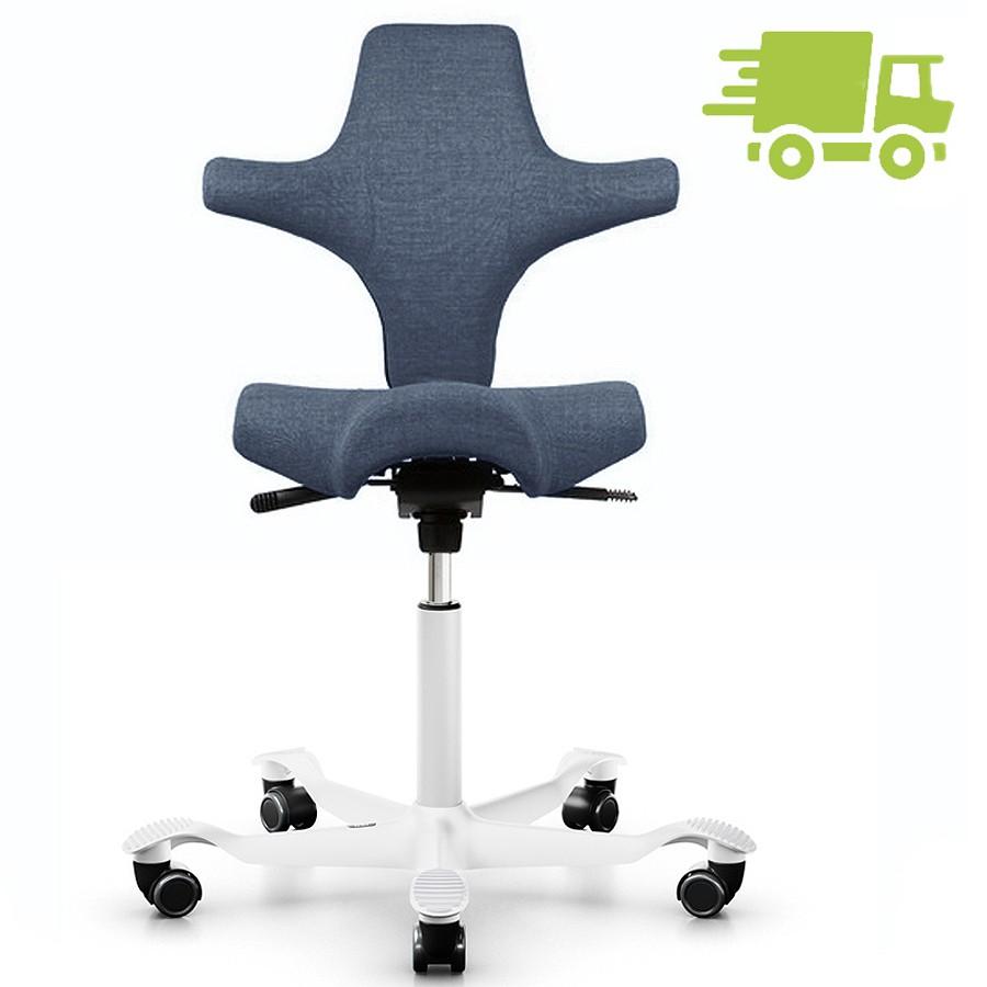 HAG CAPISCO 8106 Bürostuhl mit Sattelsitz Stoff Remix 733 blau - Gestell weiß HAG10241