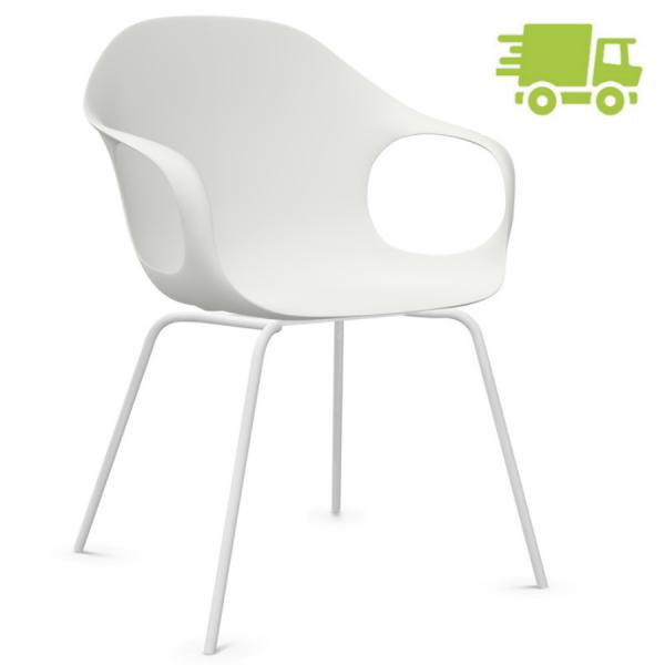 Kristalia ELEPHANT Stuhl weiß mit Vierfußgestell weiß - schnell geliefert