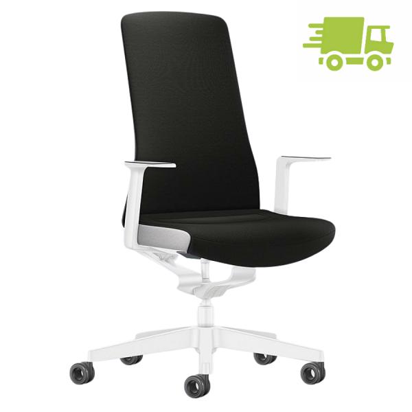 Interstuhl PURE INTERIOR Edition Bürostuhl mit Polsterrücken - Variante schwarz