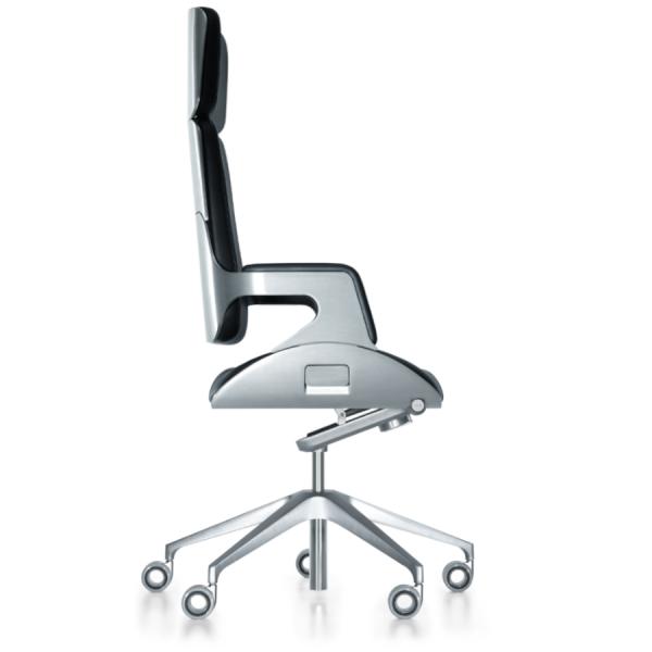 Interstuhl SILVER 362S Bürodrehstuhl hohe Rückenlehne silber gebürstet
