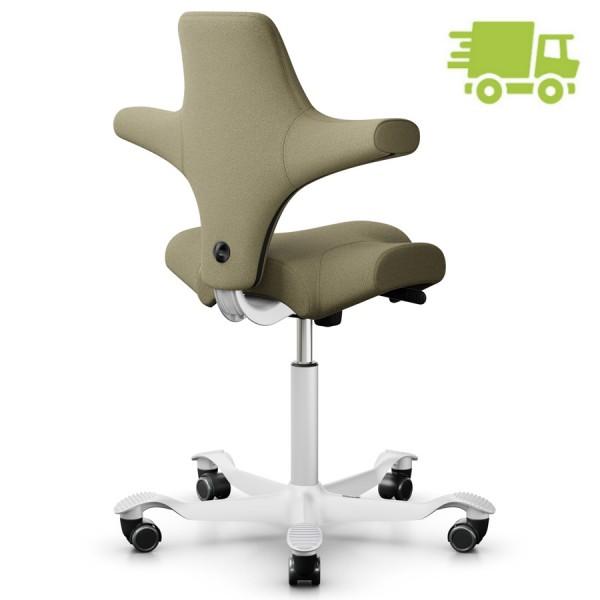 HAG Capisco 8106 Bürostuhl Stoff Capture Farbe 5102 mit Gestell weiß