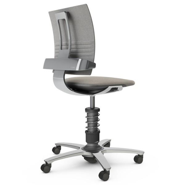 Aeris 3Dee Bürostuhl Capture grau Standard-Feder - Gestell/Feder hochglanz poliert