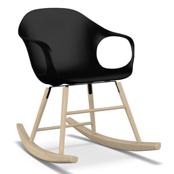 Kristalia ELEPHANT Schaukelstuhl Sitzfarbe schwarz