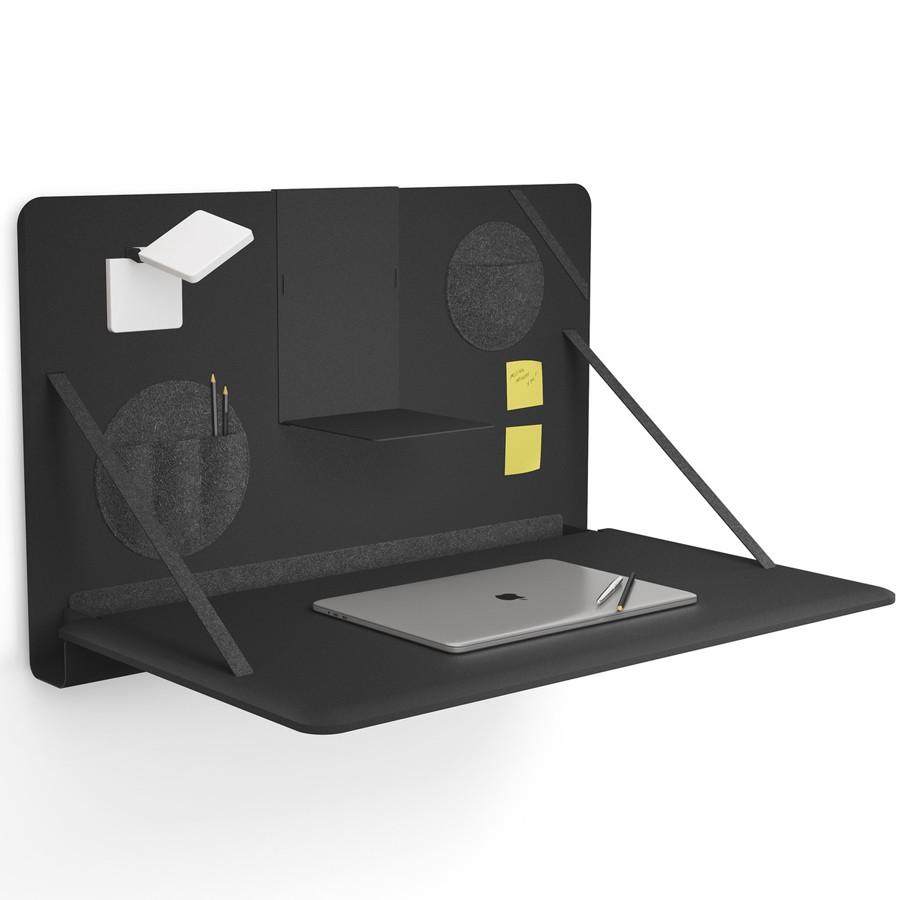 Brunner notebook - aufklappbarer Wandschreibtisch in Schwarz BR200100