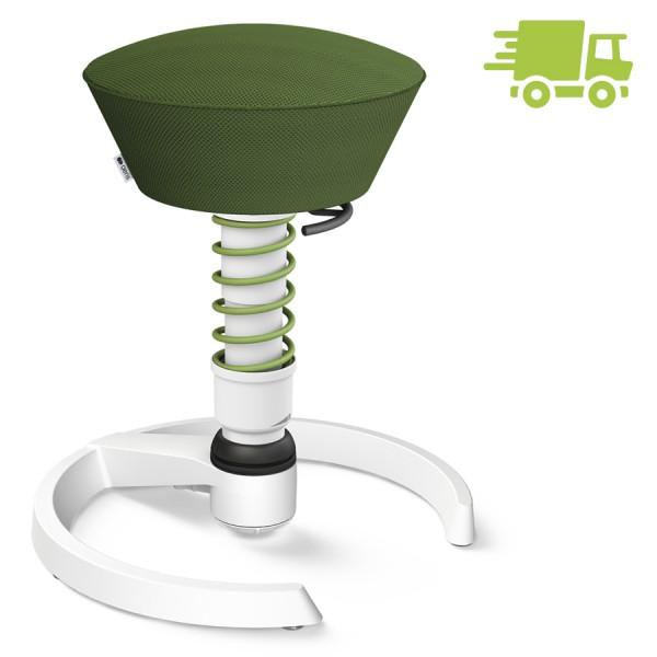 Aeris Swopper Air Mesh-Gewebe Runner grün mit Gleiter - Gestell weiß - Feder grün