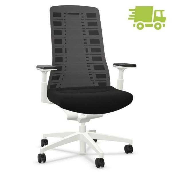 Interstuhl PUREis3 PU213 Bürostuhl weiß mit Netzrücken Farbe schwarz 3D-Armlehnen - schnell geliefert