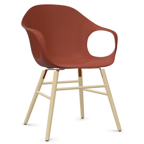 Kristalia ELEPHANT Stuhl mit Holzgestell Sitzschale terracotta