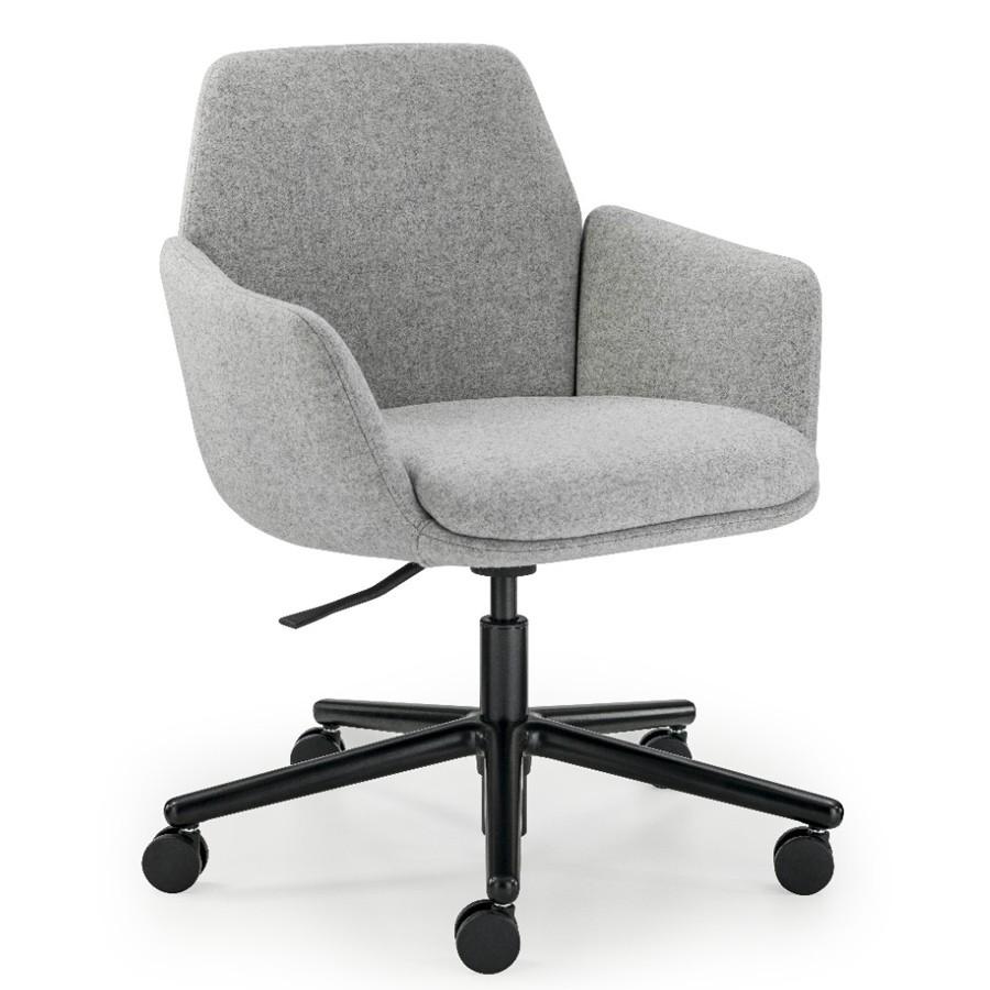HAWORTH Poppy Bürostuhl Konferenzstuhl auf Rollen - Stoff grau HAW110032