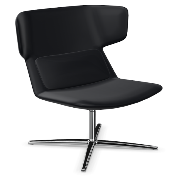 LD Seating Ohrendrehsessel FLEXI Gestell chrom in schwarz