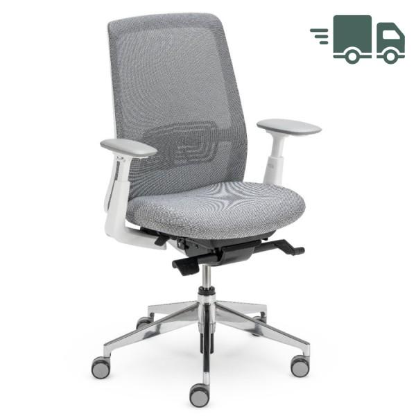 HAWORT Soji Bürodrehstuhl grau mit Netzrücken