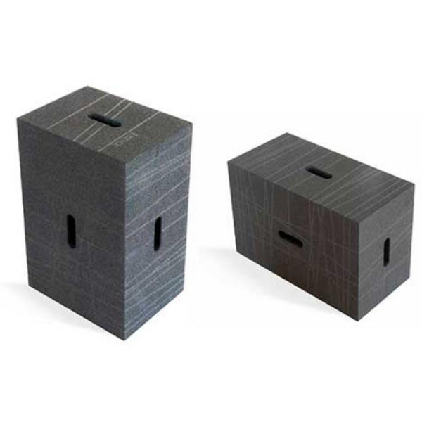WP Office Xbrick Sitzwürfel Bürohocker multifunktionaler Baustein anthrazit