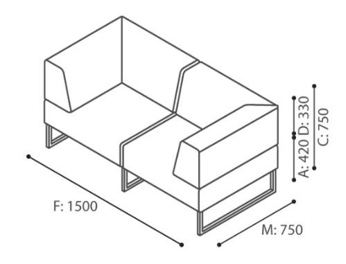 Bejot-PLINT-Modulsofa-grau-Stoff-Synergy-2-SitzerbrZ2FYGI0Af3s
