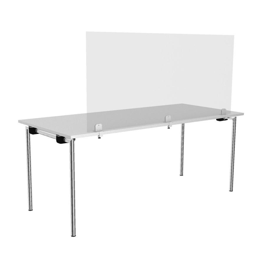 Rosconi T2 Tisch-Trennwand Breite 150 cm - Virenschutz Spuck & Niesschutz Sch... RO11020