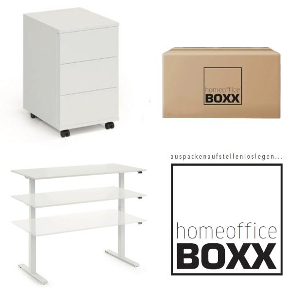 FM Homeoffice BOXX 2.1 - EASY GO Schreibtisch + ROLL ON - Rollcontainer
