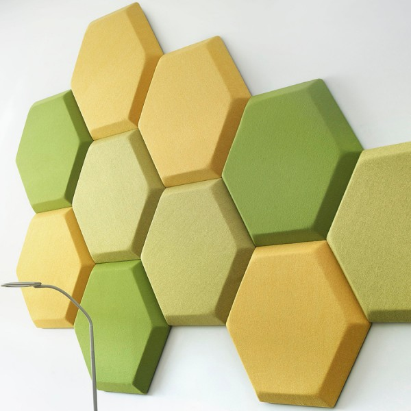Bejot Silent Block SBW H Akustik Wandpaneel grün/gelb