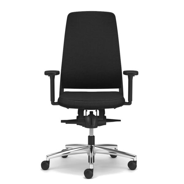 TENSA.NEXT Bürodrehstuhl mit Polsterrücken Frontansicht