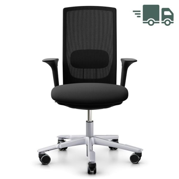 HAG FUTU MESH 1100-S Bürostuhl mit Netzrücken schwarz - Gestell silber - schnell geliefert