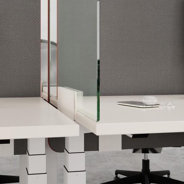 Palmberg Barrio Hygieneschutzwand ohne Ausschnitt - Acrylglas - Detail 1