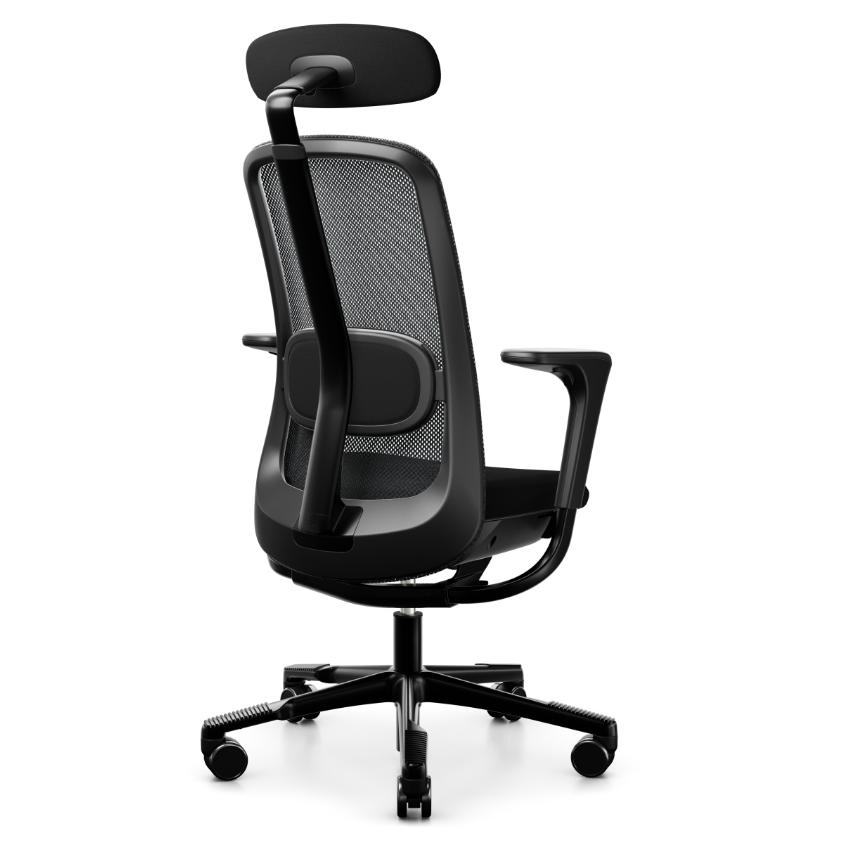 HAG SoFi Mesh 7500 Bürostuhl schwarz mit Nackenstütze Hag100270