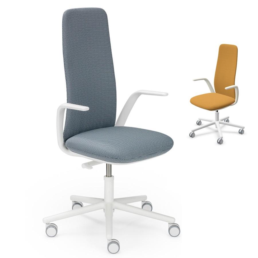 HAWORTH Nia Bürodrehstuhl weiß - Rückenlehne hoch HAW110001