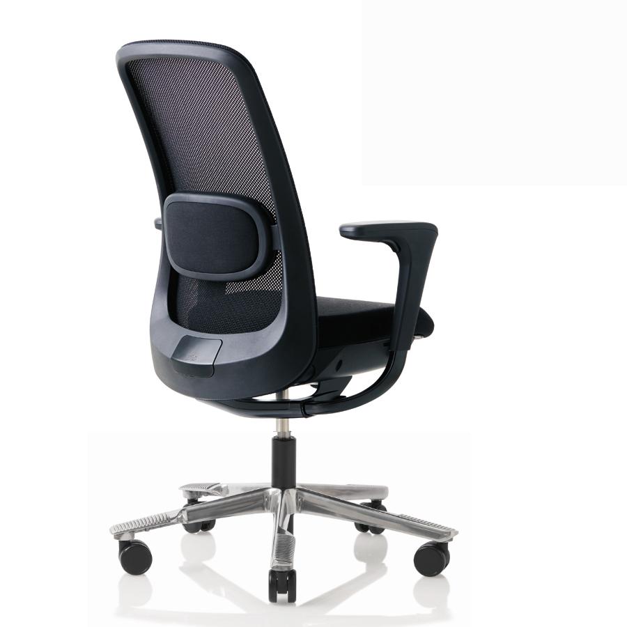 HAG SoFi Mesh 7500 Bürostuhl schwarz mit Fußkreuz poliert Hag100165