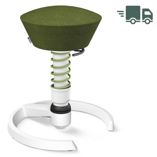 Aeris Swopper Capture Wolle grün meliert - Gleiter - Gestell weiß - Standardfeder grün