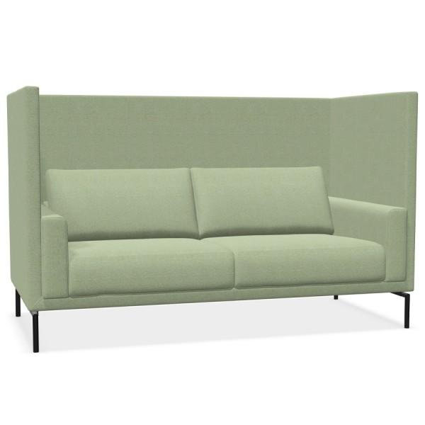 W. Schillig Impériale 2-Sitzer Sofa Akustiksofa mit Rückwänden 195 cm - Farbe Hellgrün