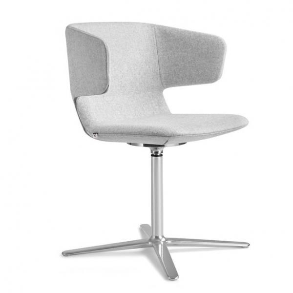 LD Seating F25-N6 Ohrensessel Filz Synergy grau
