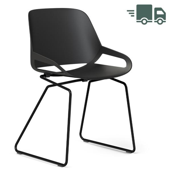 Aeris Numo Kufengestell schwarz - Sitzschale schwarz - ohne Sitzkissen