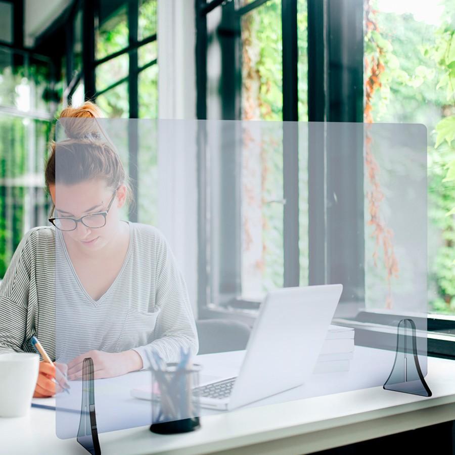 Rexite Plexy Plexiglas Schutzwand Virus Trennwand Schreibtisch Niesschutz Spu... REX10001