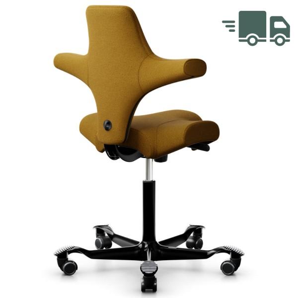HAG Capisco 8106 Bürostuhl Stoff Capture Farbe Ocker mit Gestell schwarz - schnell geliefert