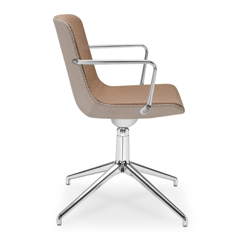 Sitland Milos Konferenzstuhl mit Drehgestell Alu poliert SIT101020