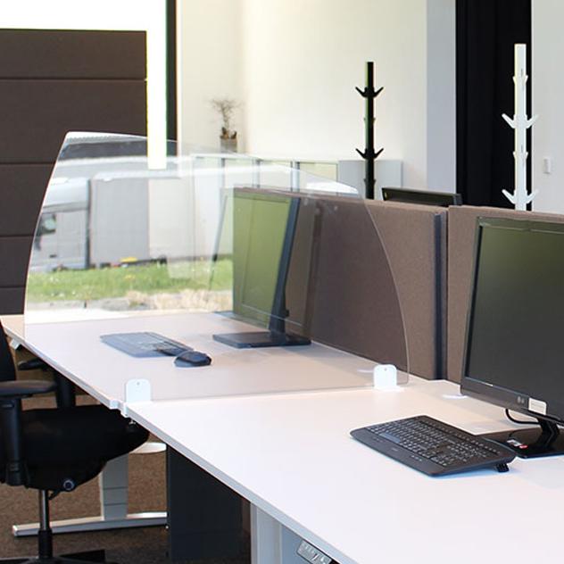 Rosconi T2 Tisch-Trennwand Acryl Virenschutz Spuck & Niesschutz Schreibtisch ... RO11017