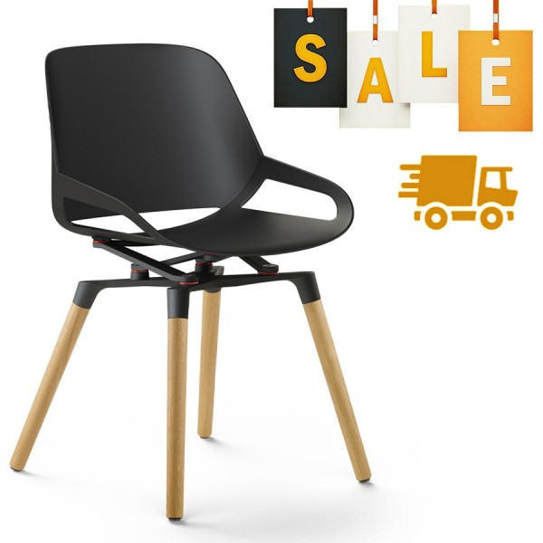 Aeris Numo Holzgestell - Sitzschale u. Kinematik schwarz - ohne Sitzkissen
