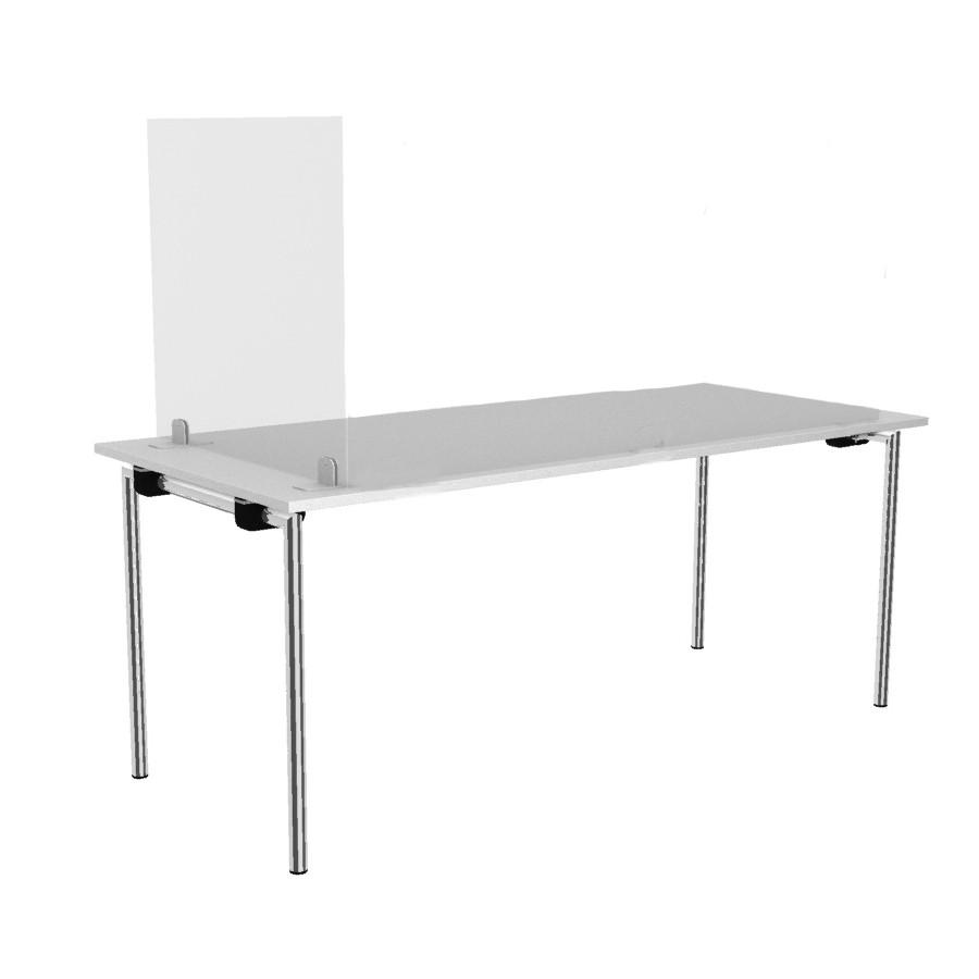 Rosconi T2 Tisch-Trennwand Breite 75 cm - Virenschutz Spuck & Niesschutz Schr... RO11021