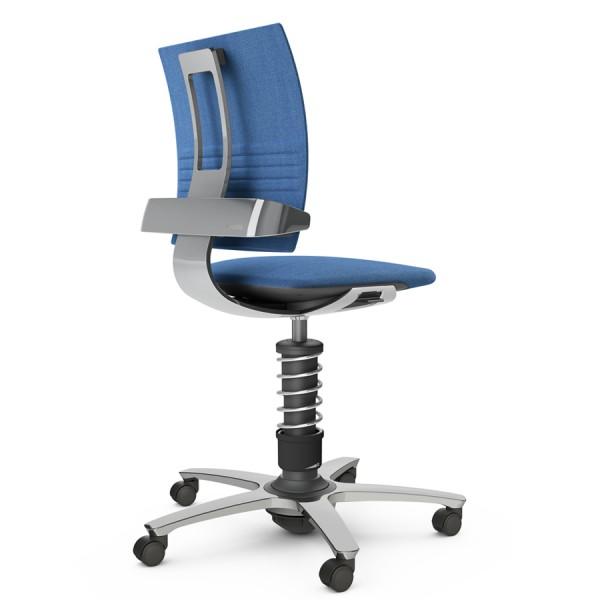 Aeris 3Dee Bürostuhl Capture blau High-Feder - Gestell/Feder hochglanz poliert