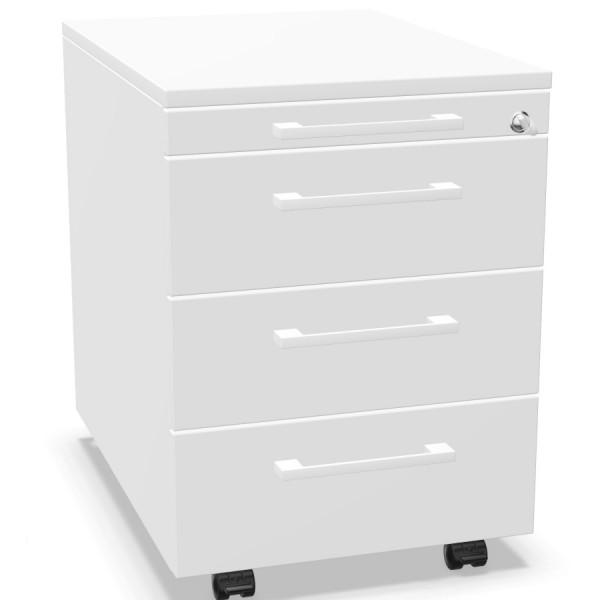 Palmberg Rollcontainer ORGA PLUS 3+3+3+1 mit Griffen weiß