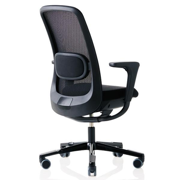 HAG SoFi Mesh 7500 Bürostuhl mit Netzrücken schwarz - Rückansicht