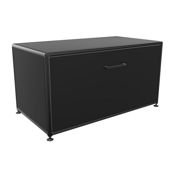 Bosse Lowboard 1 OH Black Edition Breite 80 cm in Schwarz mit Klappe