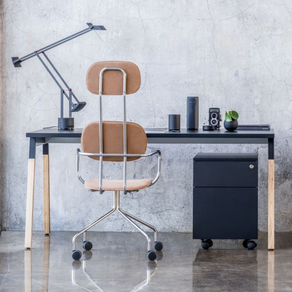 mdd Ogi Wood Schreibtisch - schwarz