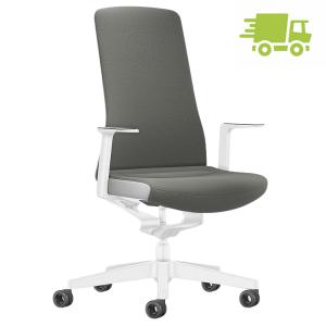 Interstuhl PURE INTERIOR Edition Bürostuhl mit Polsterrücken - Variante grau