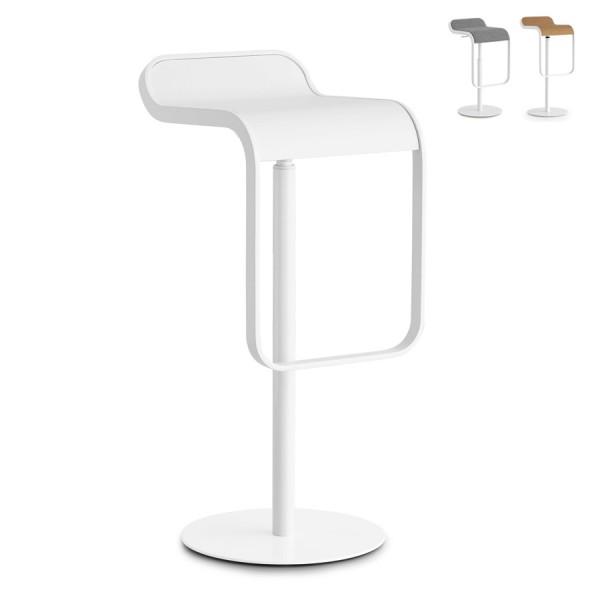 Lapalma LEM mit weißem Gestell Sitzfläche weiss lackiert