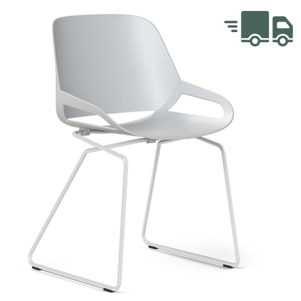 Aeris Numo Kufengestell weiß - Sitzschale weiß - ohne Sitzkissen