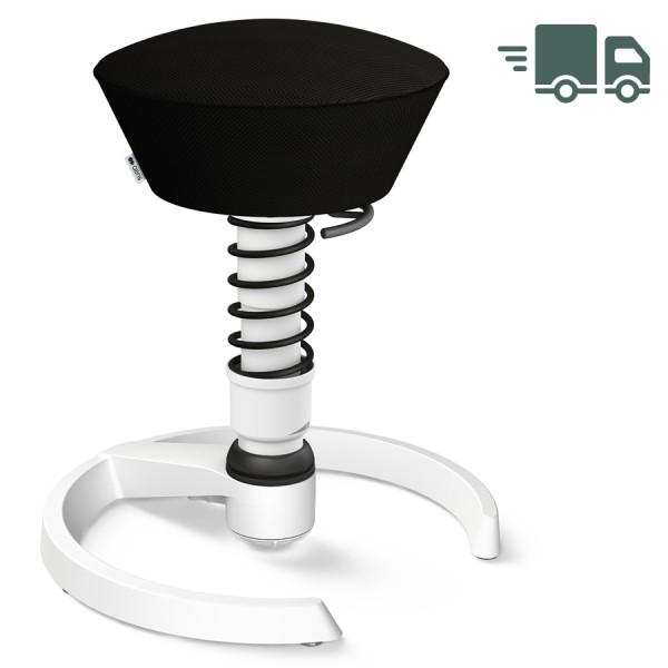 Aeris Swopper Air Mesh-Gewebe Runner schwarz mit Gleiter - Gestell weiß - Feder schwarz