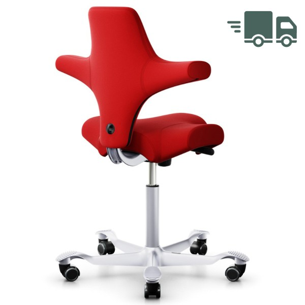 HAG CAPISCO 8106 Stoff Xtreme rot mit Sattelsitz Gestell silber- schnell geliefert