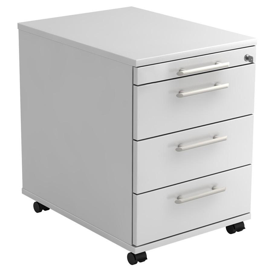 RWH Rollcontainer Schreibtischcontainer ROCK weiß RWH11610